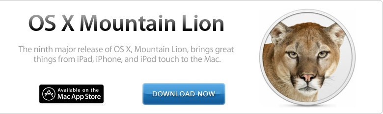 Download and Install OS X Mountain Lion now!